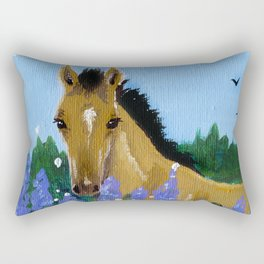 Flower Foal Rectangular Pillow