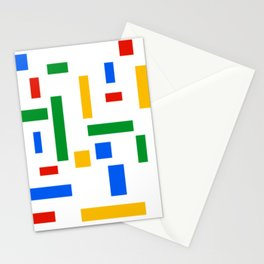 Abstract Google Art Red Green Blue Yellow on White Stationery Cards