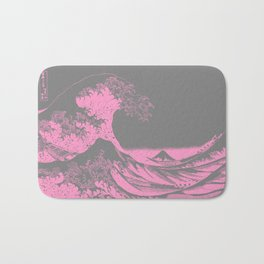 The Great Wave Pink & Gray Bath Mat