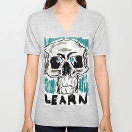 Learn: Skull Unisex V-Neck