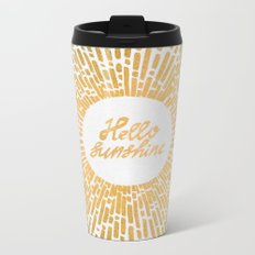 Hello Sunshine Gold Metal Travel Mug