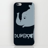 dumbo iPhone & iPod Skins featuring Dumbo by Citron Vert