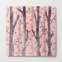 Forest Pink Metal Print