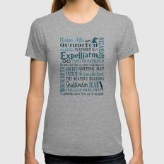 Harry Potter - All Quotes  MEDIUM Tri-Grey Womens Fitted Tee
