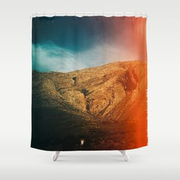 love is in the mountain Shower Curtain