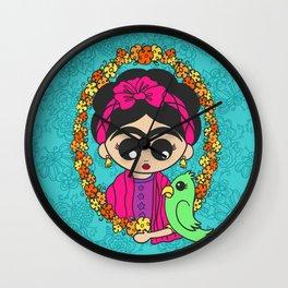 Little Parrot Friend Wall Clock