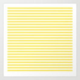 Yellow Provence stripes Art Print
