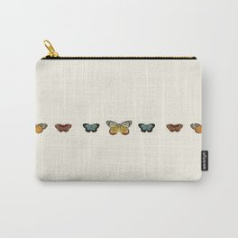 Butterfly Collage Horizontal Carry-All Pouch