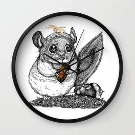 a little chinchilla Wall Clock