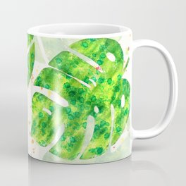 Tropical Monstera Leaves Unique Pattern Coffee Mug
