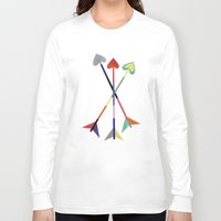 arrows Long Sleeve T-shirts featuring Arrows by Bridget Davidson