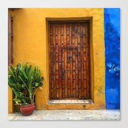 Door of Cartagena Colombia Canvas Print