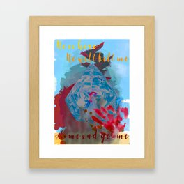 All the Light We Cannot See - Sea of Flames Framed Art Print