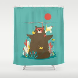 Snorkelling Shower Curtain