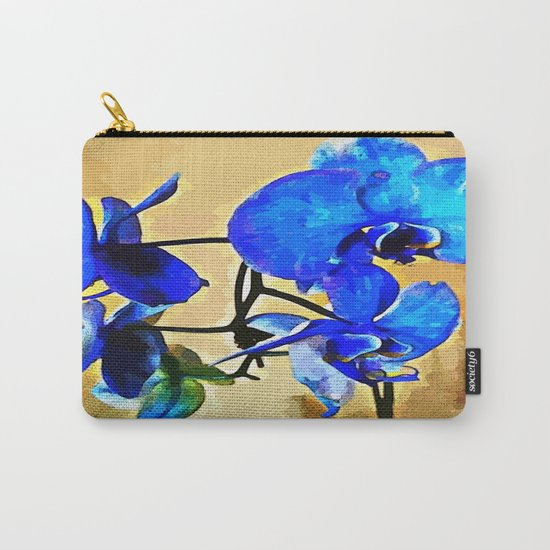 Painted Blue Orchid Carry-All Pouch