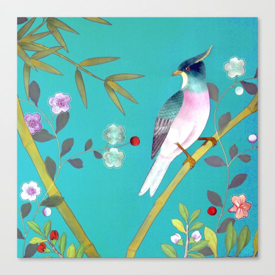 chinois 1731: turquoise  Canvas Print