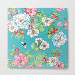 Vintage Floral Pattern No. 3 Metal Print