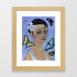 Wings of Summer, Four Seasons Portrait Framed Art Print