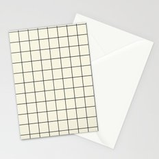 simple grid Stationery Cards
