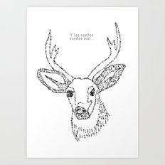 The deer Art Print