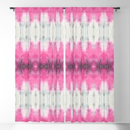 Abstract Pink Flowers Blackout Curtain