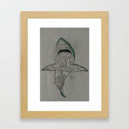 Palavras de J.D. Salinger Framed Art Print