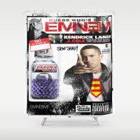 rap Shower Curtains featuring Tribute Rap God by JHC Studio