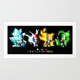 Castle Crashers : The Whole Gang Art Print
