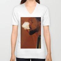 django V-neck T-shirts featuring Django by David