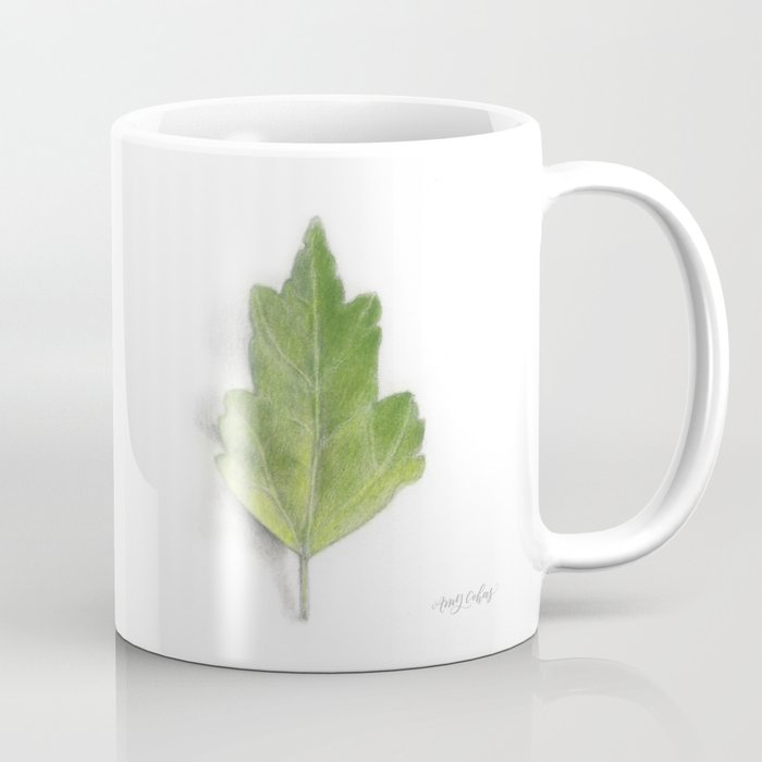 Lucy Rose of Sharon Hibiscus Leaf Study Coffee Mug