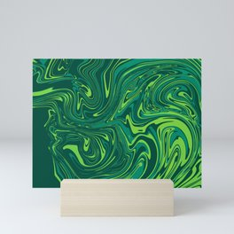 Toxic green mable Mini Art Print