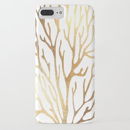 Gold Coral iPhone Case