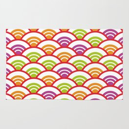 Seigaiha or seigainami literally means wave of the sea. Abstract japanese scales Rug