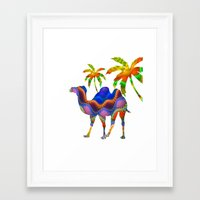 camel Framed Art Prints featuring Camel by haroulita