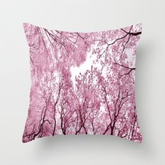 Pink view - photography Throw Pillow