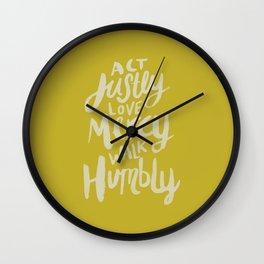 Act Love Walk x Mustard Wall Clock