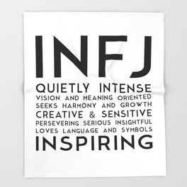 INFJ Throw Blanket