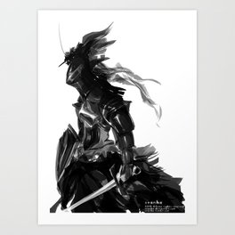 Female knight Art Print