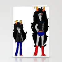 homestuck Stationery Cards featuring Vriska by Darkerin Drachen