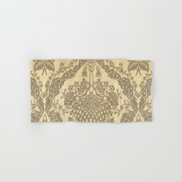 Gold Floral Fabric Hand & Bath Towel