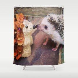 Juni Hedgehog Kissing Shower Curtain