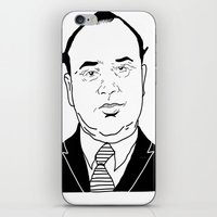 scarface iPhone & iPod Skins featuring Al 'Scarface' Capone by Danny Abbott