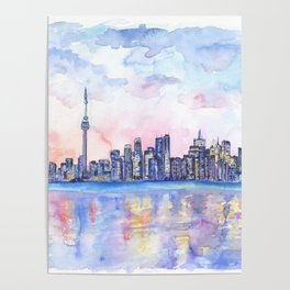 Toronto Skyline Poster
