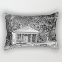 Black and White Photography Night Of The Loving Dead Chapel Rectangular Pillow