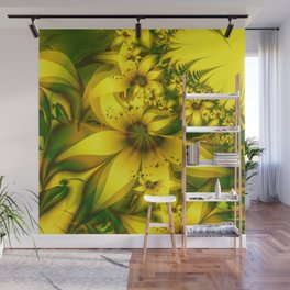 Happiness Is a Meadow of Yellow Daffodil Flowers Wall Mural