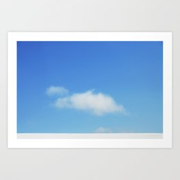 Snow and clouds in Iceland Art Print