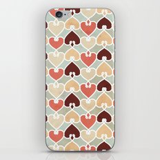Heart knit pattern iPhone Skin