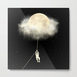 Omega Moon Jump Metal Print