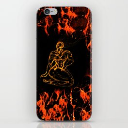 Breathing in Red Fire iPhone Skin