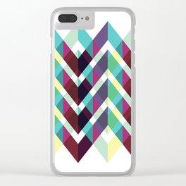 Geometric Pattern 4 (Zig Zag) Clear iPhone Case